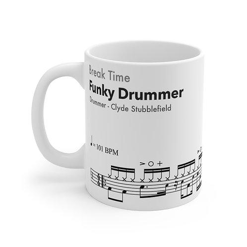 Famous Drum Samples #2 - Funky Drummer - high quality ceramic Mug 11oz