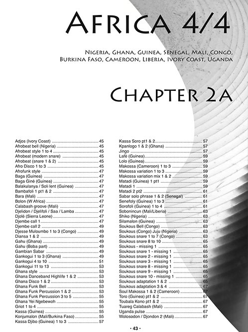 Chapter 2A Africa 4/4. 144 files. High quality MP3.