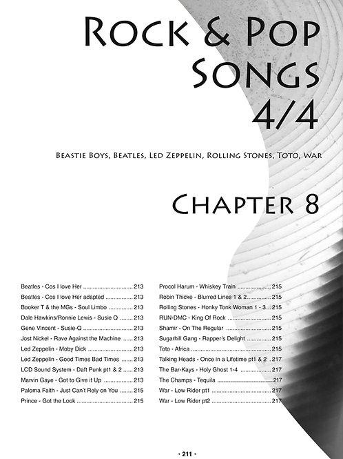Chapter 8 Rock & Pop songs 4/4. 36 MP3s
