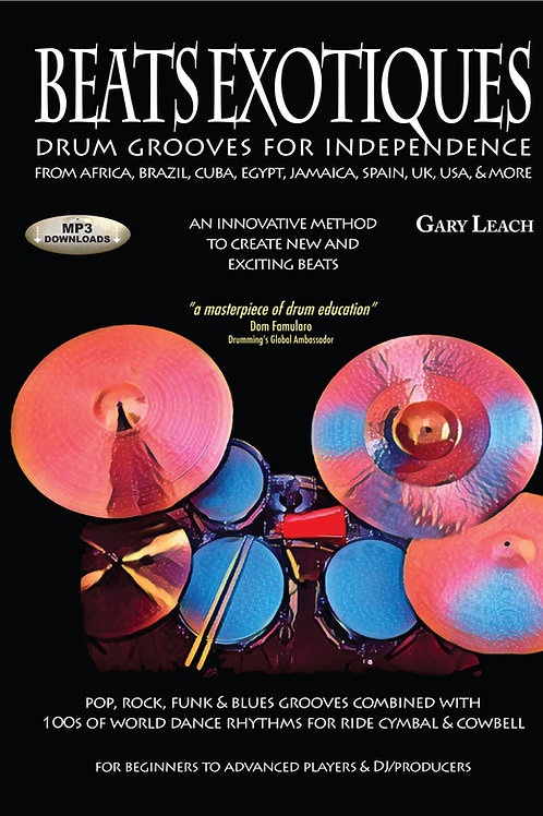 SIGNED - Beats Exotiques book. Drum Grooves for Independence. SIGNED by author