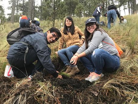 ¡Estudiantes por los bosques!