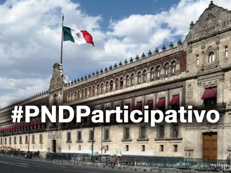 Por un Plan Nacional de Desarrollo participativo.