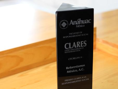 Reforestamos recibe Premio CLARES a la Responsabilidad Social
