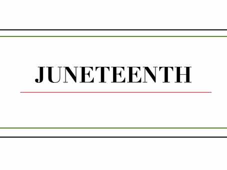 Juneteenth is here!