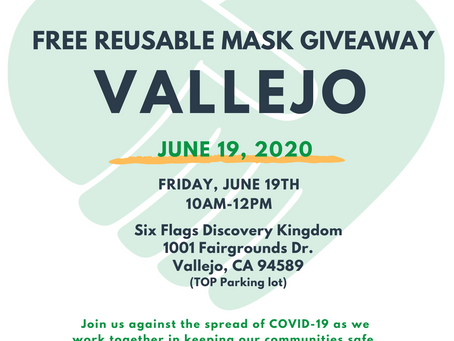 GIVEAWAY: Reusable Mask Giveaway, Vallejo
