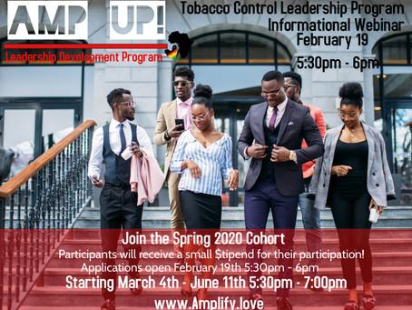 Sign up for our AMP UP! Leadership Development Program Informational Webinar (2/19)