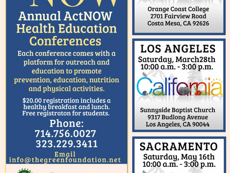 3/28: Act NOW Conference (Los Angeles)