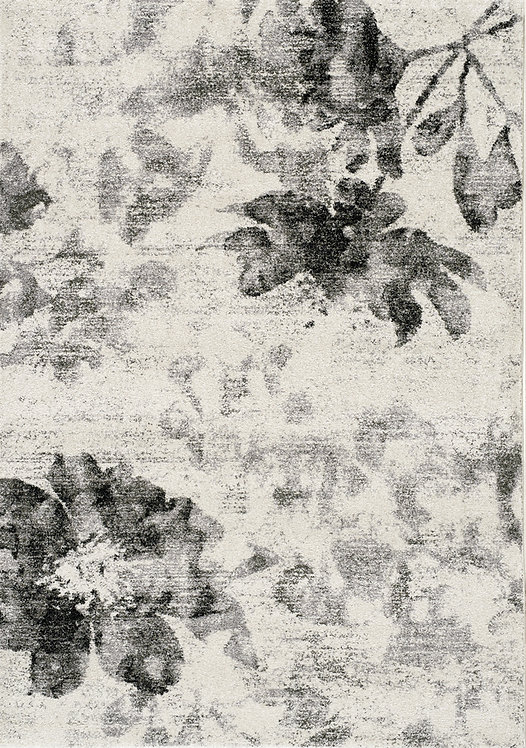Baretto Grey Floral 8x11 Rug