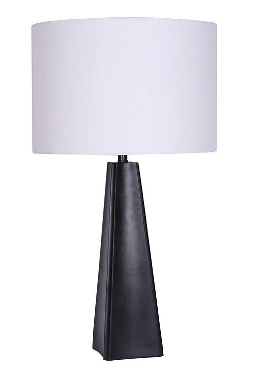 Resin Table Lamp - Matte Black