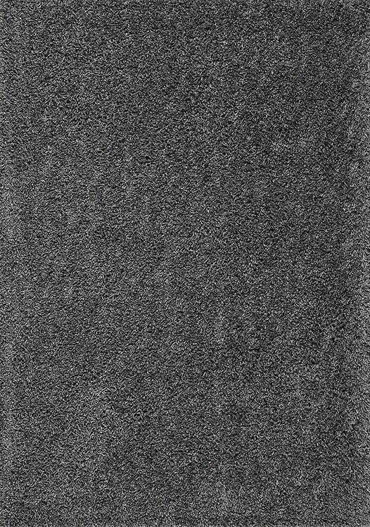 Plush Dark Grey Shag Door Mat
