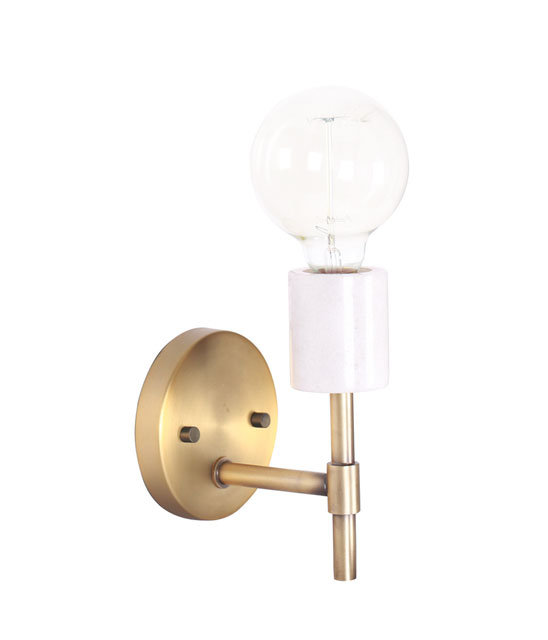Marbella Wall Sconce - Marble & Brushed Gold