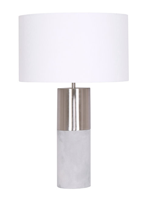 Zoey Table Lamp Brushed Steel