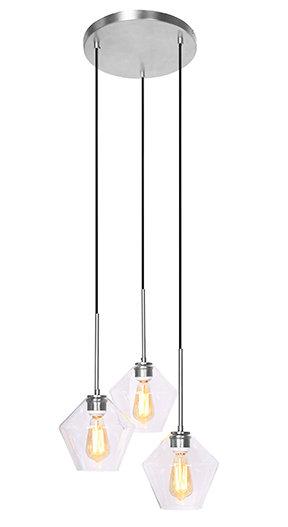 Mia Ceiling Lamp - Brushed Steel