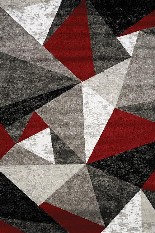 Pike Red/Grey/Black Geometric 5x8 Rug