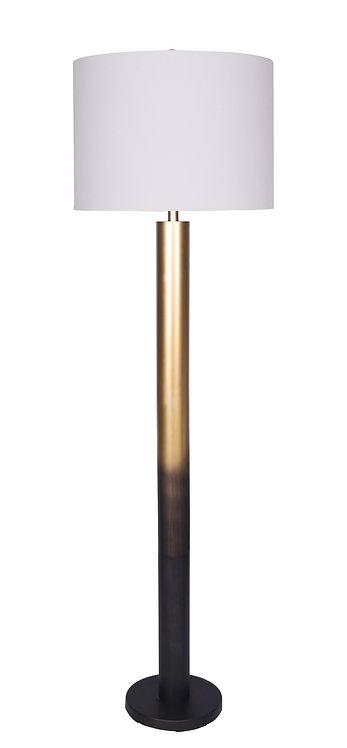 Brooke Floor Lamp - Ombre Black-Gold