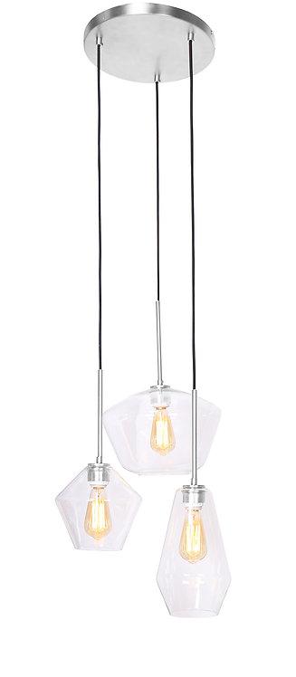 Tria Ceiling Lamp - Brushed Steel