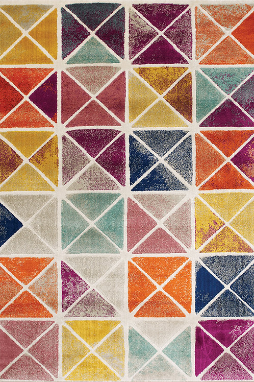 Brickston Multicolour Geometric 8x11 Rug
