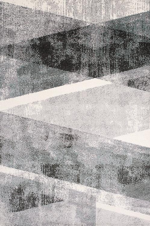 Timmons Grey Teal Geometric 5x8 Rug