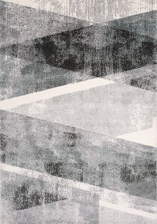 Timmons Grey Teal Geometric 8x11 Rug