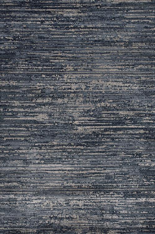 Midnight Blue Grey 8x11 Rug
