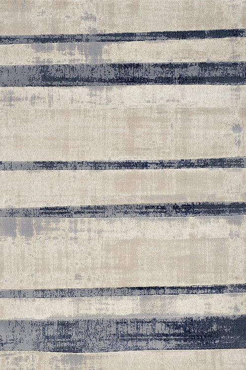 Aletta Cream Blue Stripe 5x8 Rug