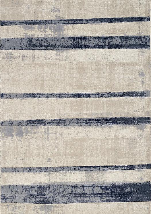Aletta Cream Blue Stripe 8x11 Rug