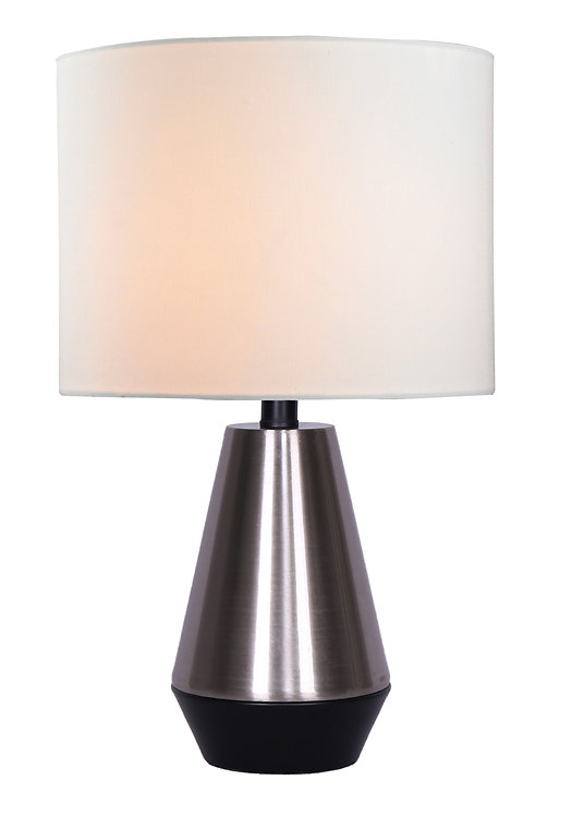 Liam Large Table Lamp - Brushed Steel