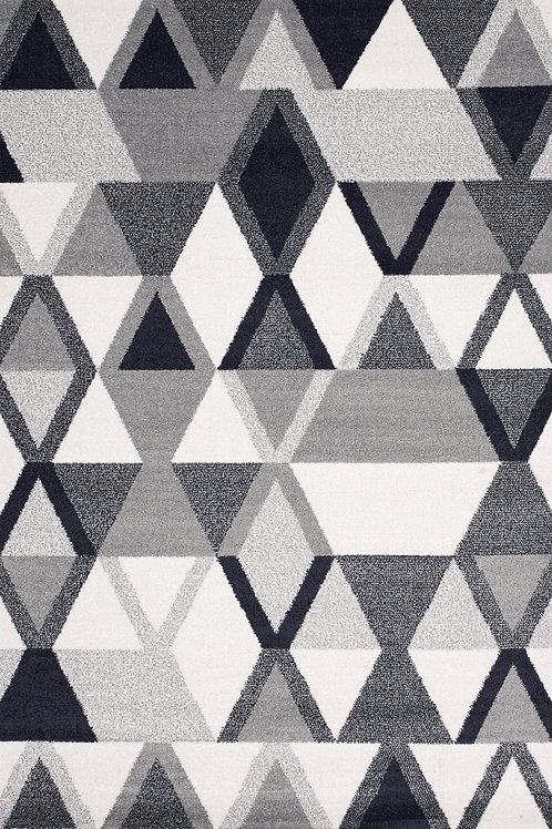 Tribute Grey Blue Geometric 5x8 Rug