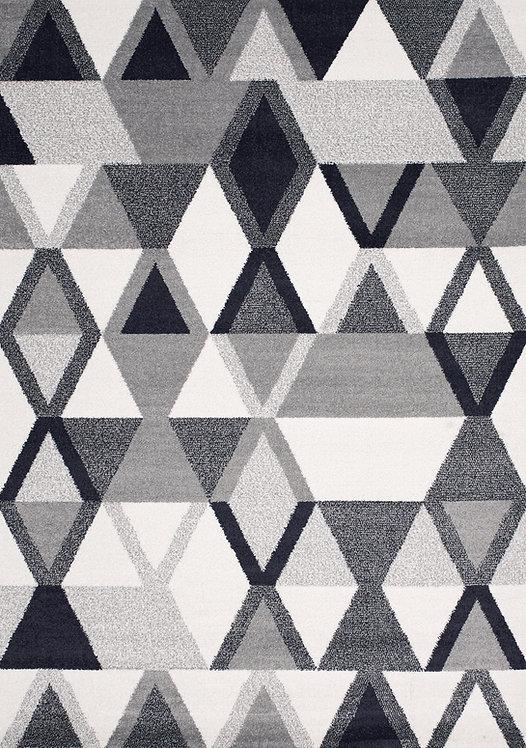 Tribute Grey Blue Geometric 5x8 Rug