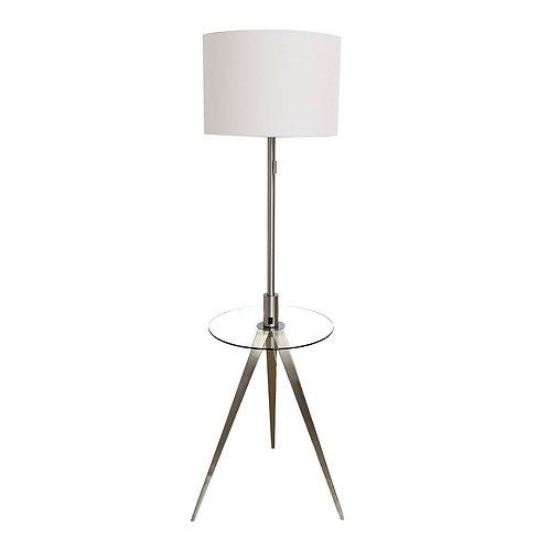 Reese Floor Lamp - Brushed Steel