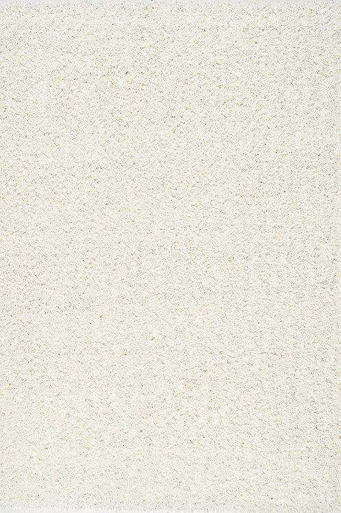 Plush Cream Bright 5x8 Shag Rug