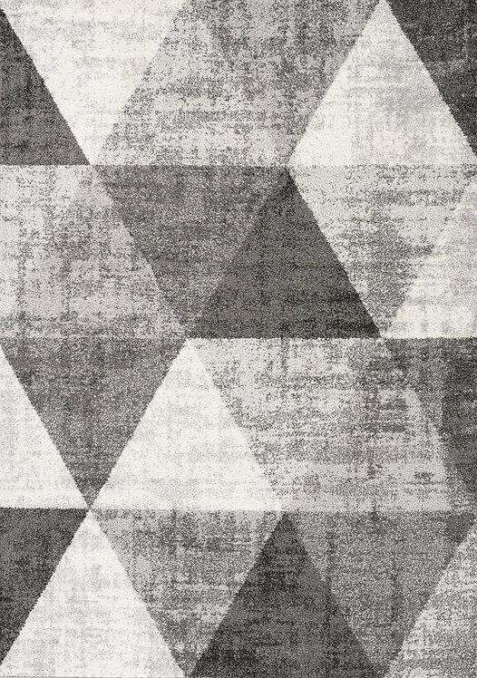 Fletcher Grey Geometric 8x11 Rug