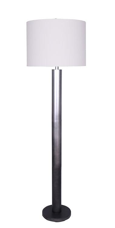 Brooke Floor Lamp - Ombre Silver-Black