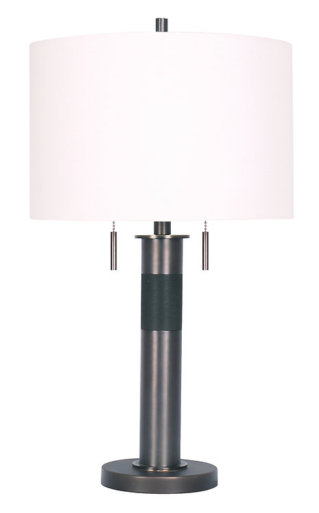 Chasney Table Lamp - Patina Bronze
