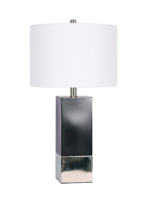 Mercedes Table Lamp - Black & Chrome