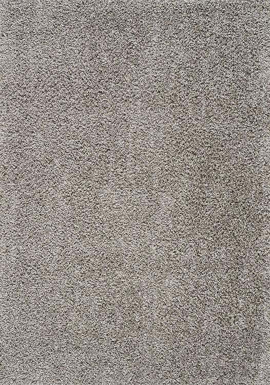 Plush Light Grey 5x8 Shag Rug