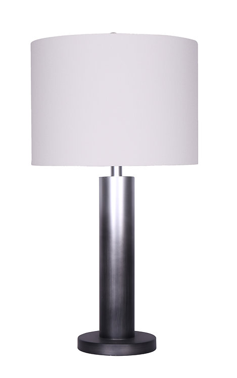 Brooke Table Lamp - Ombre Silver-Black