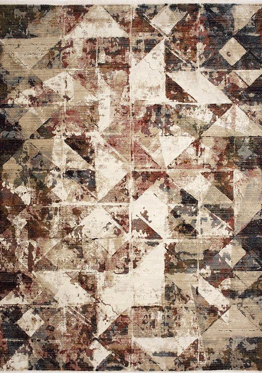 Soraya Distressed Triangles 8x11 Rug
