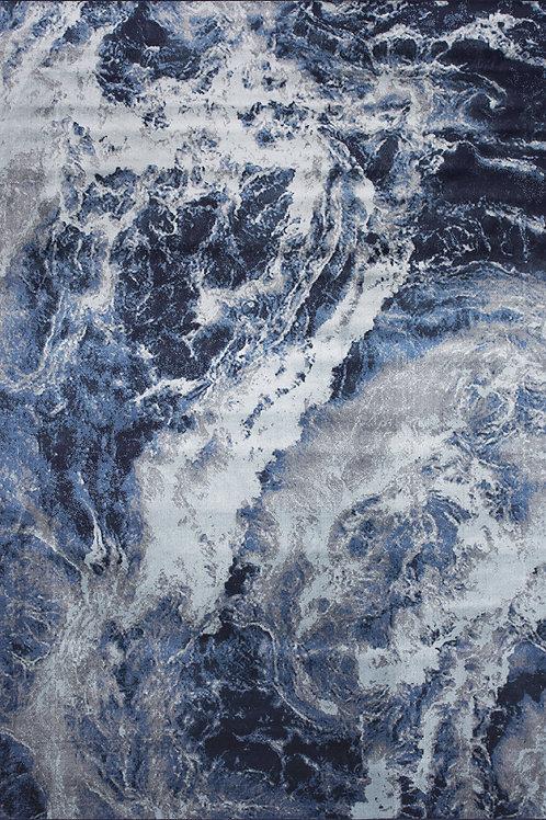 Andros Blue Grey Modern 5x8 Rug