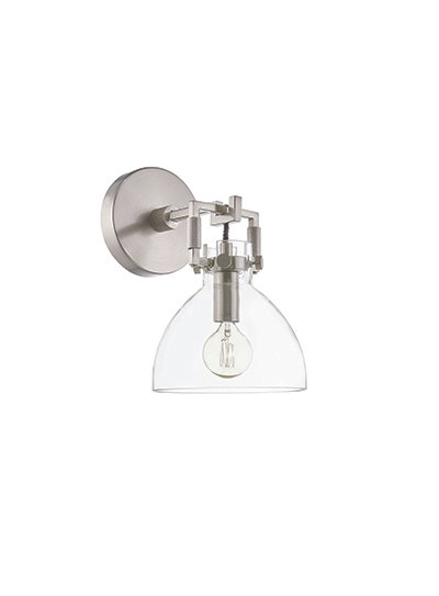 Albert Wall Sconce - Brushed Steel