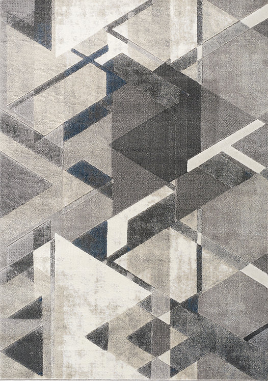 Alexis Grey Geometric 5x8 Rug