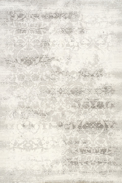 Ivy Distressed Damask 5x8 Rug