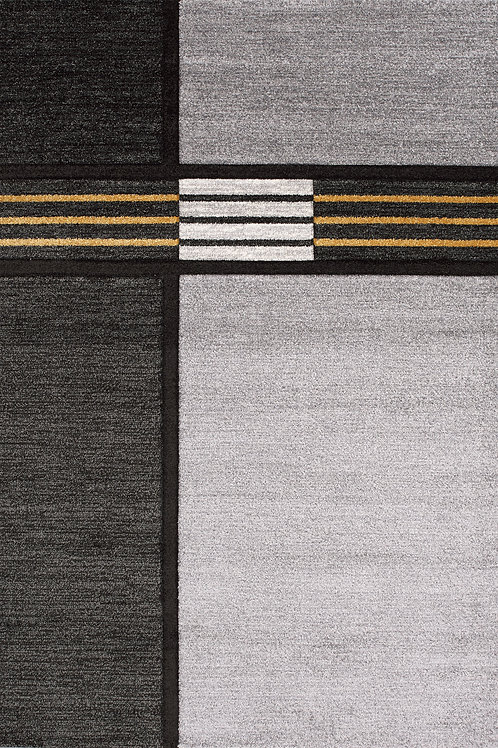 Torena Grey Yellow Modern 5x8 Rug