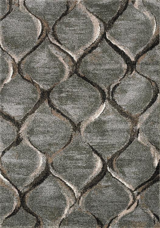 Boho Grey Geometric 5x8 Rug