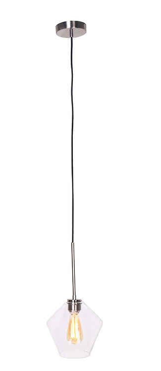 Mia Pendant Lamp - Brushed Steel