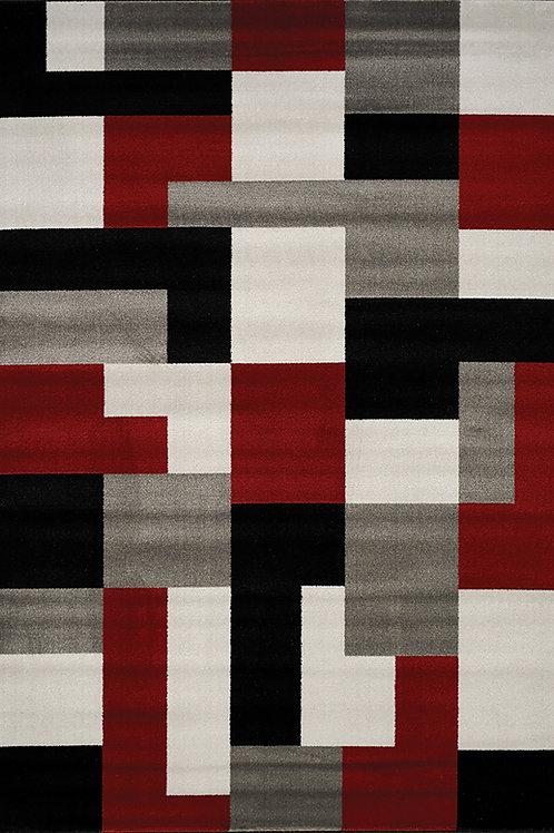 Pilar Red/Black/Grey Blocks Runner Wide