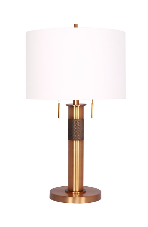 Chasney Table Lamp - Burnished Brass