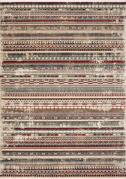 Ursula Multicolour Intricate Banded 8x11 Rug