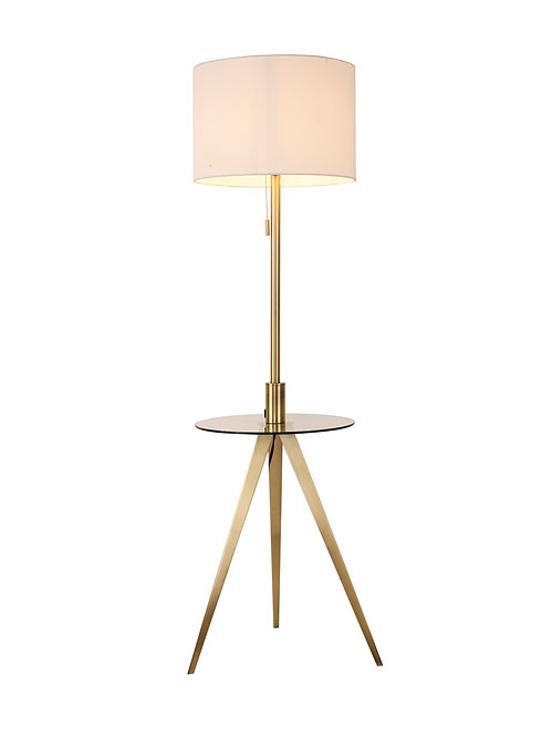 Reese Floor Lamp - Brushed Gold