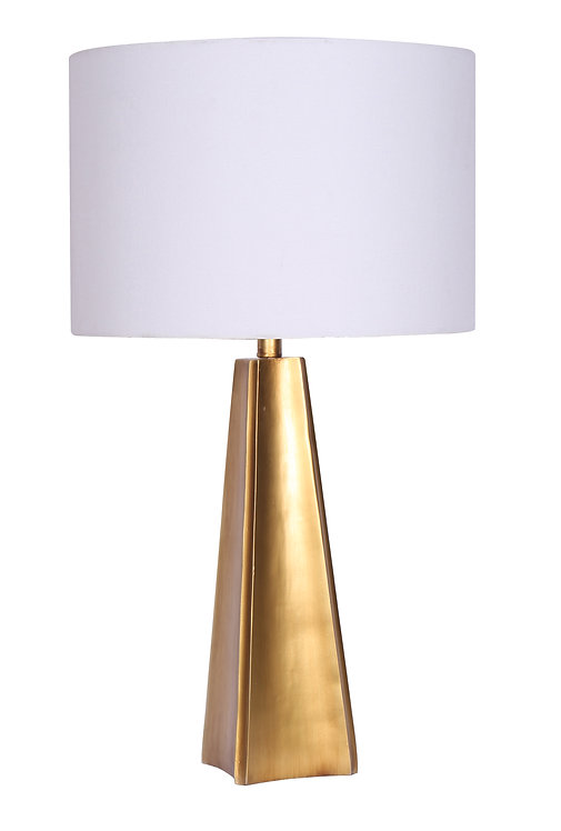 Resin  Table Lamp - Brushed Gold